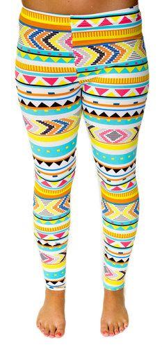 Abby Aztec Leggings - HipSway cute to go to dance in