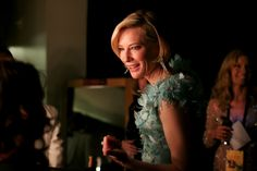 Cate Blanchett at the Oscars behind the scenes.
