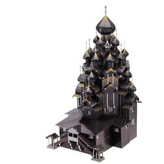 3D Metal Puzzle Russia Kizhi Church Of The Transfigu Building Model Kits P088KYS DIY 3D Laser Cut Assemble Jigsaw Toys