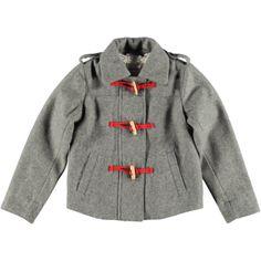 Deze guitige, gevoerde grijze jas Larise uit de wintercollectie van Bellerose hoort natuurlijk bij een leuke meisjesbroek. Met 'houtje-touwtje' sluiting en steekzakken voor.