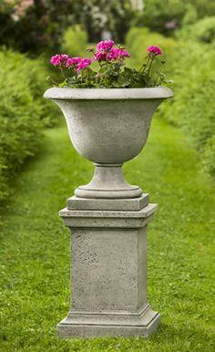 Greenwich Rustic Pedestal cast stone pedestal made by Campania International
