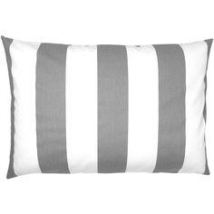 Kissenhülle mit Blockstreifen in grau-weiß 40 x 60 cm