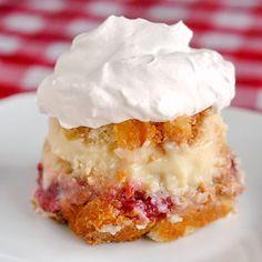 This looks so good! Strawberry Vanilla Cream Trifle