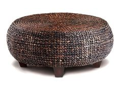 Mandalay Woven Cocktail Table by CORT -- Woven abaca and a bamboo finish add a natural touch to a living room.   CORT.com
