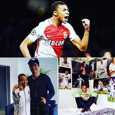 Kylian Mbappé (18 años). Lleva 10 goles en últimos 9 partidos con Monaco incluyendo dos goles vs Man City en octavos de UCL. Hoy ha sido convocado por primera vez a la selección mayor de Francia. Su inspiración? Cristiano Ronaldo