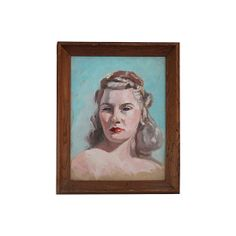 Oil Portrait of a Lady with a Scowl #huntersalley