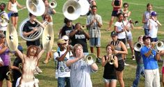 Jesus Playing The Crash Cymbals During Marching Band Practice