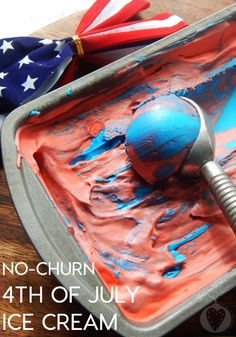 No Churn 4th Of July Ice Cream
