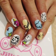 snoopy nails @Renee Peterson