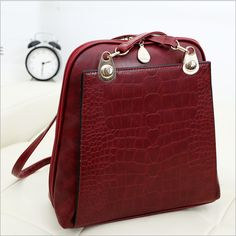 Find More Casual Daypacks Information about 2014 Hot Sale Woman's Backpack,Fashion Shell Backpack,Crocodile Grain PU leather Useful Shoulder Bag,Drop Shipping,BBP050,High Quality bag promotion,China bag closer Suppliers, Cheap bag mickey from BranKid on Aliexpress.com
