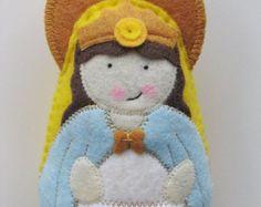 Saint Brigid of Ireland Felt Saint Softie by SaintlySilver on Etsy
