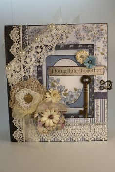 "TPHH -SHELLIE DELUXE 8-1/2 X 7 ""PREMADE SCRAPBOOK ALBUM  HEARTFELT CREATIONS  #HeartfeltCreations"