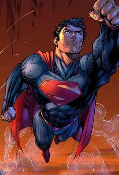 Superman by Jim Lee Dc Comics Characters, Dc Comics Art, Fun Comics, Marvel Dc Comics, Superman News, Batman Vs Superman, Superman Family, Superman Superman, Batman Art