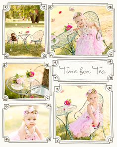 Great deal on the time for tea set! $330 for the whole thing, table, chairs, dress, tea cups ©Fonda Photography