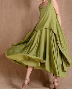 Mini Cotton Vest Maxi Dress by MaLieb on Etsy, $109.00