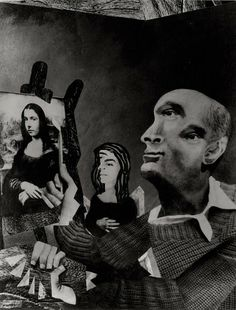 Satiric collage of Picasso. 1957.  Foucault, Marc