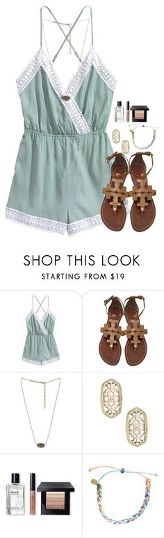 """Going to Dunkin Donuts and Zaxby's for my birthday:)"" by flroasburn ❤ liked on Polyvore featuring Tory Burch, Kendra Scott, Bobbi Brown Cosmetics and Pura Vida"