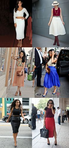 How to wear a midi skirt for petite ladies!