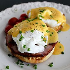 We make every component of an eggs Benedict from scratch, including the English muffins and the Hollandaise sauce.