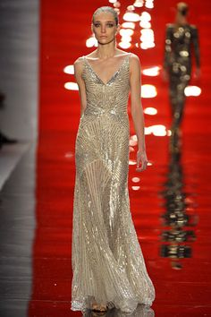 Reem Acra - Apparently I'm really into these sparkly geometric designs.