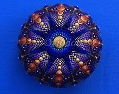 Mandala Stone, big, hand painted