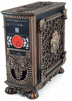 This is a new collection of creative and awesome custom PC cases. In case you missed it, here is our previous collection of Awesome Custom PC Cases… Steampunk House, Steampunk Design, Steampunk Fashion, Pc Cases, Art Nouveau, Custom Computer Case, Custom Computers, Alter Computer, Computer Build