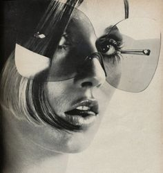 The biggest sunglasses ever made? Vogue, 1969.