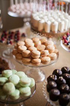 Table dessert macarons