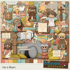 """BoomersGirl Designs: """"He is Risen"""" - New Easter Kit!"""