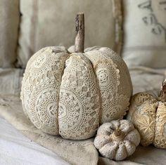 Excited to share this item from my #etsy shop: LARGE Vintage grain sack doily stuffed pumpkin/ ANTIQUE fabric pumpkin/ fall decor/ halloween/ farmhouse decor #homedecor #neutralfalldecor #frenchfarmhouse #rusticpumpkin #grainsackpumpkin #farmhousefalldecor #neutralpumpkin #linenpumpkin #fallpumpkin #primitivefalldecor
