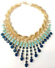 Unique Jewelry - Lady Pendant Chain Crystal Choker Chunky Bib Statement Necklace Jewelry