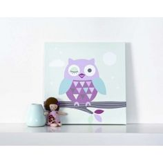 Forwalls Winking Owl Wall Canvas