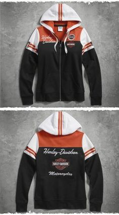 A classic that stands the test of time. | Harley-Davidson Women's Classic Colorblock Hoodie