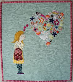 I am so in love with this quilt!! Dream a Little Dream - Complete by Cut To Pieces, via Flickr
