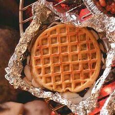 campfire waffle treats
