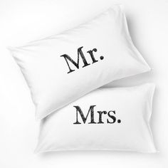 Mr & Mrs pillowcase http://collected.co.nz/products/pillowslips-gold-mr-mrs