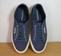 32.66$  Watch here - http://vioiw.justgood.pw/vig/item.php?t=ybi3kgs9784 - Women's Superga Cotu Classic Sneakers in Blue Low Top Size 39 / 8 EUC