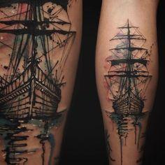 "3,263 Likes, 109 Comments - NADi (@tattooer_nadi) on Instagram: ""Ship , , ."""