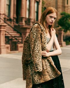 I want a leopard coat so bad - faux of course.