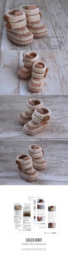 Caleb Boot crochet pattern