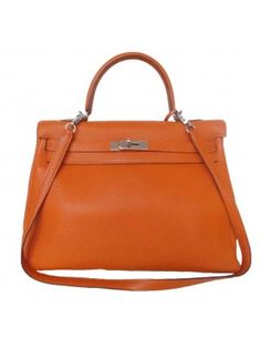 6688ae65aa4 BOLSA HERMÈS KELLY TOGO ORANGE 35 CM