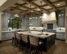 Just a beautiful overall kitchen.  I know Ed does not like a coffered style ceiling but this really is beautiful.