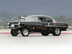 Visit The MACHINE Shop Café... ❤ Best of Chevy @ MACHINE ❤ (1955 Chevrolet Bel Air Gasser)