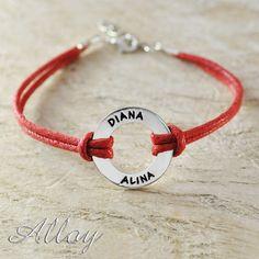 Shop Now!  http://www.blueponystyle.com/products/alloy-bracelet-circle-name-bracelet-colorful-cord-chain-custom-engraved-name-bracelet-sport-bracelet?utm_campaign=social_autopilot&utm_source=pin&utm_medium=pin   #etsymntt #EtsySocial #ESLiving #ebay #toys #EpicOnEtsy #etsyretwt #gift #xmas