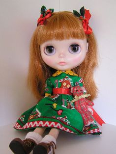christmas dress blythe