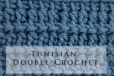 Tunisian Crochet Double Stitch