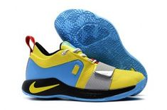 official photos 8738d 4953b Nike PG 2. 5 Sony PlayStation Yellow Blue Black Red Men's Basketball Shoes  Male Sneakers