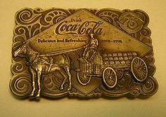 Vintage Coca Cola 1975 Belt Buckle and Bottle Opener