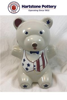 The first in the Limited Edition Series is the Teddy Bear Cookie Jar which is being produced from its original 1940s mold.