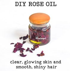DIY rose oil recipe - BENEFITS OF ROSE OIL – Rose oil has anti-bacterial, anti-fungal and anti-inflammatory properties which helps to… Diy Beauty Oil, Face Scrub Homemade, Homemade Hair, Homemade Beauty Products, Diy Products, Dry Skin Remedies, Beauty Tips For Teens, Infused Oils, Rose Oil